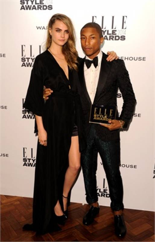pharrell williams dating cara He who never ages, pharrell williams, and karl lagerfeld's golden girl (and model turned actress) cara delevingne star in a romantic and regal short film.